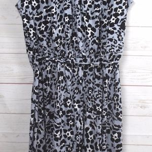 Ann Taylor Loft Animal Print Sleeveless Dress